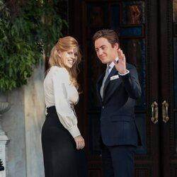 La Princesa Beatriz de York y Edoardo Mapelli Mozzi en la boda de Felipe de Grecia y Nina Flohr