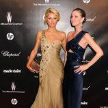 Paris Hilton y Nicky Hilton en la fiesta Chopard tras los Globos de Oro 2012