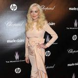 Lindsay Lohan en la fiesta Chopard tras los Globos de Oro 2012