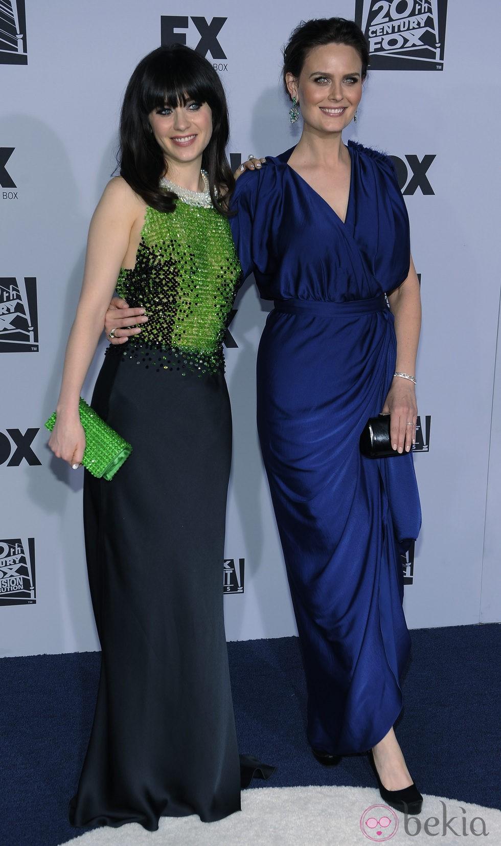 Zooey Deschanel y Emily Deschanel en la fiesta Fox tras los Globos de Oro 2012