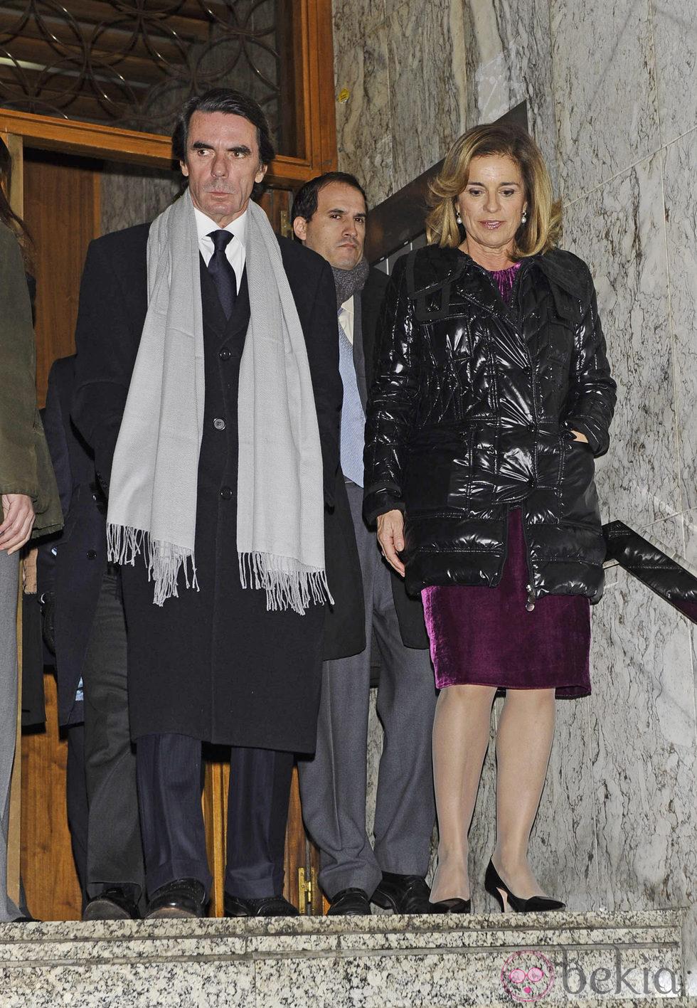 José María Aznar y Ana Botella en la capilla ardiente de Manuel Fraga