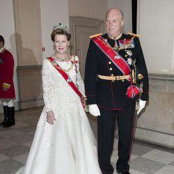 Los Reyes de Noruega en la celebración de los 40 años en el trono de Margarita de Dinamarca