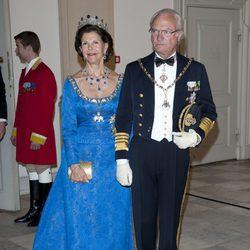 Los Reyes de Suecia en la celebración de los 40 años en el trono de Margarita de Dinamarca