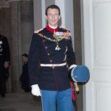 Joaquín de Dinamarca en la celebración de los 40 años en el trono de Margarita de Dinamarca