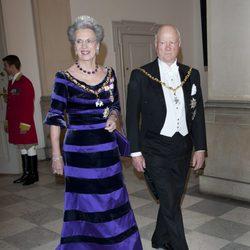 Ricardo y Benedicta de Dinamarca en la celebración de los 40 años en el trono de Margarita de Dinamarca