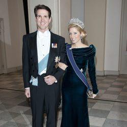 Pablo y Marie Chantal de Grecia en la celebración de los 40 años en el trono de Margarita de Dinamarca
