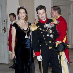 Federico y Mary de Dinamarca en la celebración de los 40 años en el trono de Margarita de Dinamarca