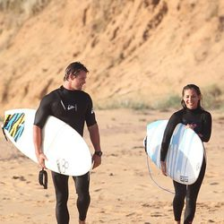 Elsa Pataky y Chris Hemsworth en las playas de Melbourne