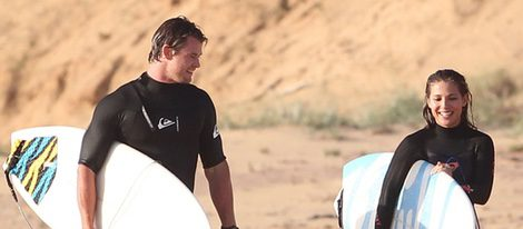 Elsa Pataky y Chris Hemsworth en las playas de Melbourne
