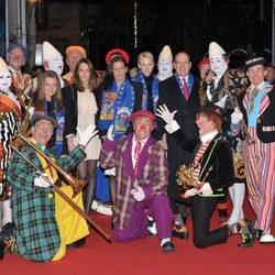 La Familia Real de Mónaco en la apertura del Festival de Circo de Mónaco