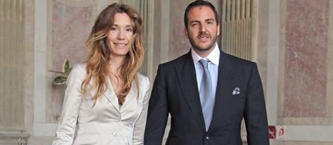 Borja Thyssen y Blanca Cuesta en el bautizo de Amaro