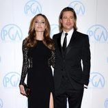 Angelina Jolie y Brad Pitt en la gala Asociación de productores