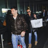 Belén Esteban y Fran Álvarez a su llegada a Madrid