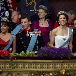 Los príncipes Federico, Mary, Joaquín y Marie de Dinamarca