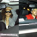 Rihanna y Chris Brown a la salida de una discoteca