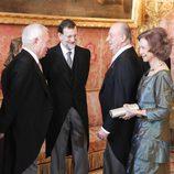 Los Reyes, Mariano Rajoy y el ministro de Exteriores en la recepción al Cuerpo Diplomático