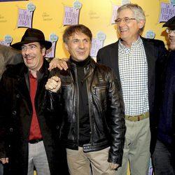 Edu Soto, Agustín Jiménez, José Mota, Josema Yuste y Santiago Segura en el estreno de 'La extraña pareja'
