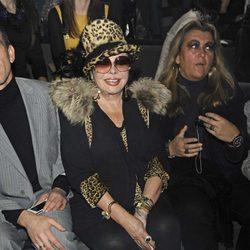 Marujita Díaz en el desfile de Francis Montesinos en Fashion Week Madrid