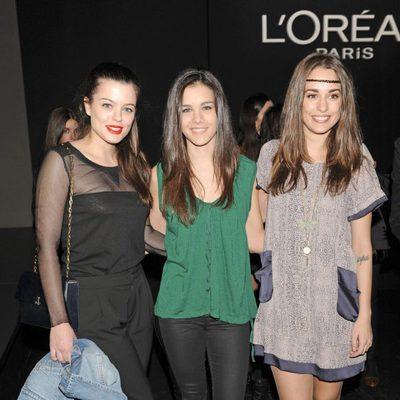 Adriana Torrebejano, Sandra Blázquez y Silvia Alonso en el desfile de Amaya Arzuaga en la Fashion Week Madrid