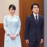 Mako de Japón y Kei Komuro el día de su boda