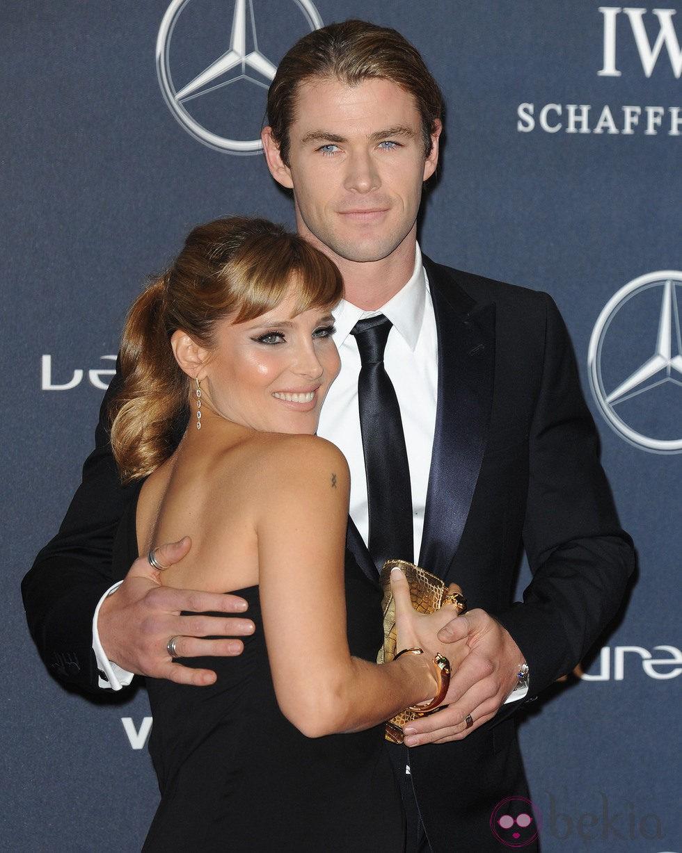 Elsa Pataky y Chris Hemsworth, muy acaramelados en los Premios Laureus 2012