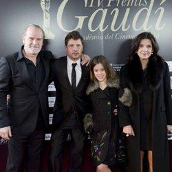 Lluís Homar, Kike Maíllo y Claudia Vega en los Premios Gaudí 2012