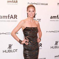 Heidi Klum en la gala amfAR celebrada en Nueva York