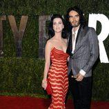 Katy Perry y Russell Brand en una fiesta tras los Oscar 2010