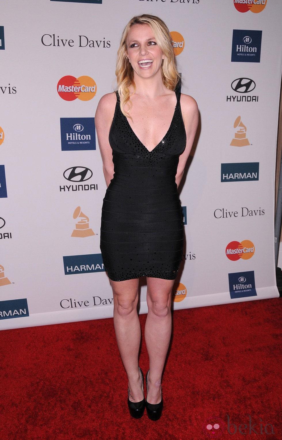 Britney Spears en la fiesta pre Grammy 2012