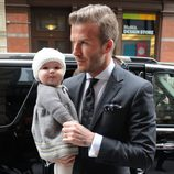 David Beckham y Harper Seven