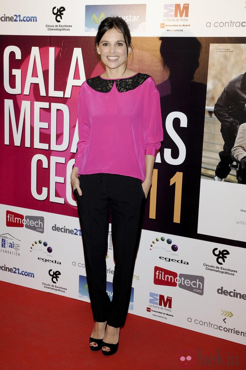 Elena Anaya en la entrega de las Medallas del CEC 2012