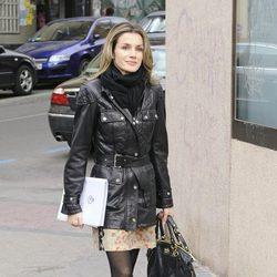 La Princesa Letizia a su llegada a la reunión de trabajo con FEDER