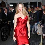 Petra Nemcova en la semana de la moda de Nueva York