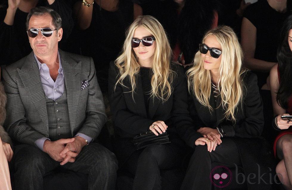 Las hermanas Olsen en la semana de la moda de Nueva York