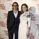 Angelina Jolie y Brad Pitt en París