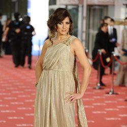 Lucía Jimenez en la alfombra roja de los Goya 2012