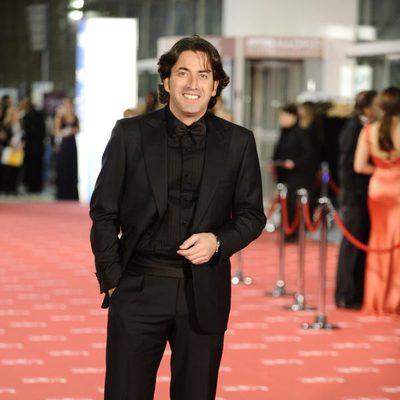 Antonio Garrido en la alfombra roja de los Goya 2012