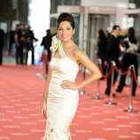 Leire Martínez en la alfombra roja de los Goya 2012