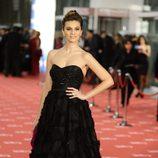 Norma Ruiz en la alfombra roja de los Goya 2012