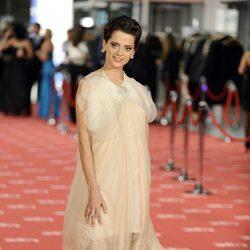 Macarena Gómez en la alfombra roja de los Goya 2012