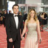 María Adánez y David Murphy en la alfombra roja de los Goya 2012