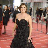 Estrella Morente en la alfombra roja de los Goya 2012
