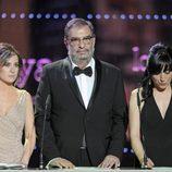 El presidente y las dos vicepresidentas de la Academia del Cine