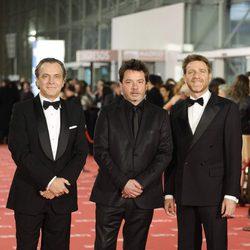 José Coronado, Enrique Urbizu y Juanjo Artero en la alfombra roja de los Goya 2012