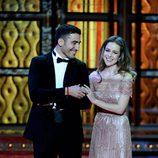 Miguel Ángel Silvestre y Silvia Abascal en la gala de los Goya 2012