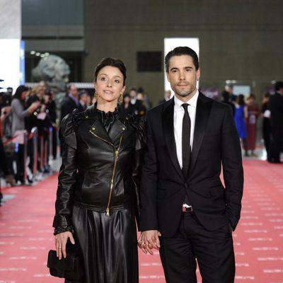 Ingrid Rubio y Unax Ugalde en la alfombra roja de los Goya 2012