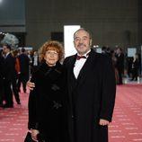 Tito Valverde y María Jesús Sirvent en la alfombra roja de los Goya 2012