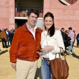 María Jesús Ruiz con su novio en una corrida de toros celebrada en Utrera