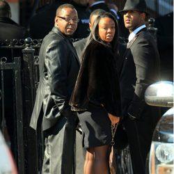 Bobby Brown en el funeral de Whitney Houston