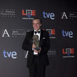 José Coronado posa con su Goya 2012 a Mejor Actor